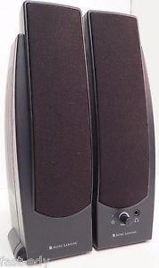 Altec Lansing BX20 2.0 Speakers Sound System PC Multimedia Powered w/ AC Adapter