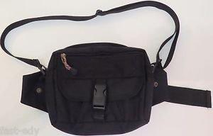 Timberland Trek Light Fanny Pack Hip Waist Hiking Day Bag Shoulder Strap Black