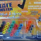 "Skate Monster 28 Wheels & 12 Nuts 1 1/2"" Wide Tech Deck 00254"