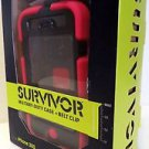 Griffin Survivor Military Duty Extreme Hard Case + Belt Clip iPhone 3G 3GS Pink