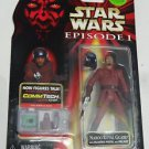 STAR WARS Episode 1 Action Figure NABOO ROYAL GUARD CommTech Chip Darth Jedi