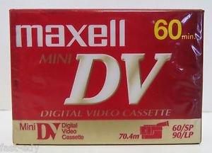 Maxell � Blank Mini DV 60 min Digital Video Cassette Tape 70.4m 60/sp 90/lp NEW