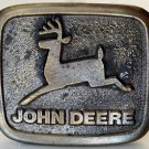 Vintage JOHN DEERE Tractor Belt Buckle Wyoming Studio Art Works Brass 3 x 2.5 in