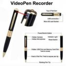 A.E Electronics HD Audio/Video Camera Spy Pen w/Camera * Black