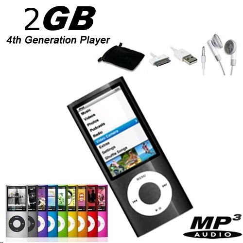 "A.E Electronics NEW 2GB MP3 MP4 1.8"" LCD Media Player w/FREE GIFT 4th Gen Black"