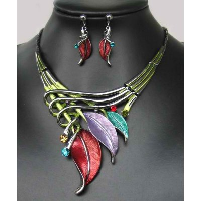 Jewelrycut Ocean Paradise Earring & Necklace Crystal Set
