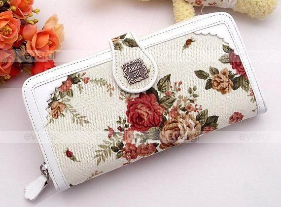 Glambags Anna Sui Rosa multiflora series cotton&PU purse
