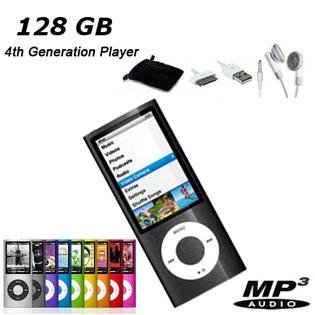 """NEW 128  MP3/MP4 1.8"""" LCD Media Player w/FREE GIFT 4th Gen Silver"""