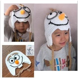 FROZEN Handmade Crochet Frozen Olaf Hat Children's Knitted Cap *SALE