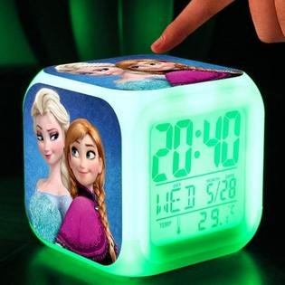 3D cartoon Frozen Digital desk table alarm clock Elsa Anna olaf snowman SALE