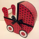 Sweet Little Ladybug Baby Carriage Table Centerpiece / Gift Box