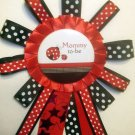 Sweet Little Ladybug Mommy to be Corsage Pin