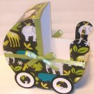 Zoology Baby Jungle Baby Carriage Table Centerpiece / Gift Box