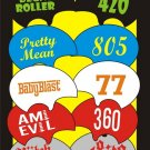 Roller Derby helmet decal name