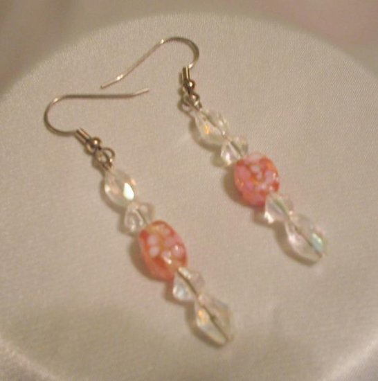 PINK & CRYSTAL EARRINGS