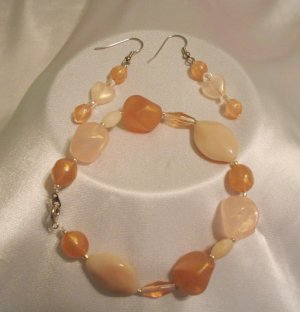 EARTHTONE BRACELET & EARRINGS