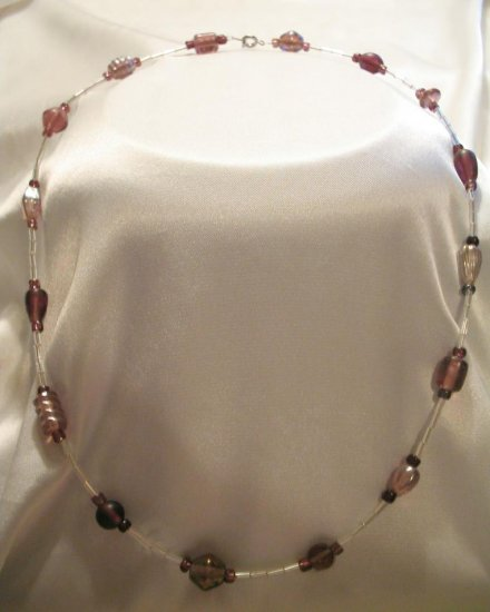 PURPLE AND SILVER NECKLACE