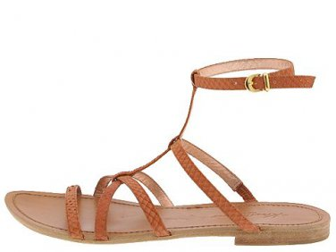 New KENNETH COLE Bronze Leather PY BABY Flat Gladiator Sandals Shoes 5.5 - FREE US Ship