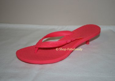 New Authentic SIGERSON MORRISON Rubber Neon Pink VIBRAM Soles Sandals Shoes 5 35 - FREE US Ship