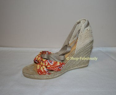 New Authentic J CREW JCREW Marianne Colorful Espadrille Wedges Sandals Shoes 5 35 - FREE US Ship