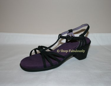 New Authentic CAMPER Black Classic STRAPPY Purple Insoles Sandals Shoes 35 5 - FREE US Ship