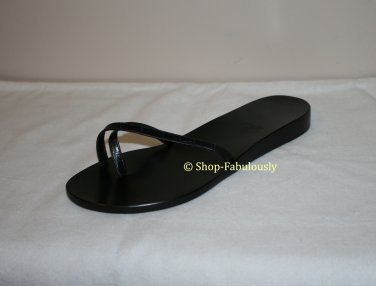 New Authentic BALLY Switzerland Black Leather Classic MINIMALIST Sandals Shoes 35 4.5 - FREE US Ship