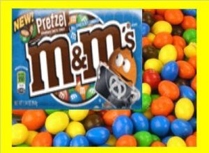 7.5 lbs M&M Pretzel Bulk Candy FREE Labels & Ship
