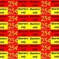 8 U-turn 1 x 9 Laminate Peel Stick Price Vending Labels