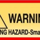 12 CHOKE HAZARD WARNING Stickers Bulk Vending Labels