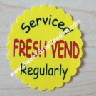 12 FRESH VEND Stickers Bulk Vending Labels