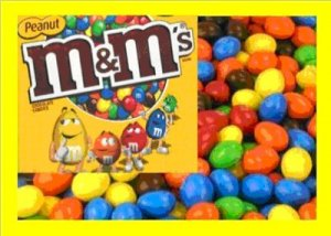 10.5 lbs M&M Peanut Bulk Candy FREE Labels & Shipping