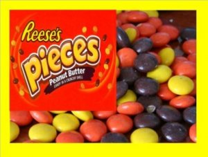 16.5 lbs. Reeces Pieces Bulk Candy FREE Labels & Ship