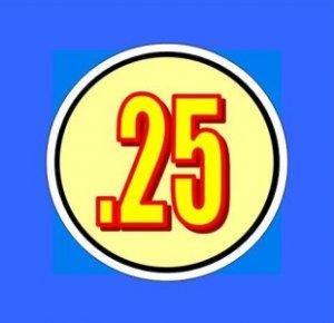 """12 .25 INSIDE MOUNT Large 1 1/4"""" Vending Price labels"""