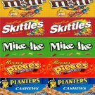 "6  Self Stick U TURN Vending candy labels (2.5"" x 10"")"