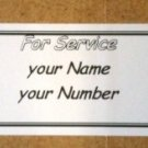 "10 Peel & Stick Service  Vending Labels 1.2"" x 3.5"""