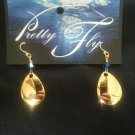 Gold Colorado blade with Blue Swarovski Crystal