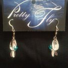 Silver Flicker with Turquoise Swarovski Crystal