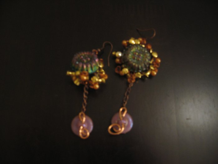 tribal flower earing.