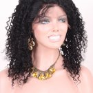14'' Full lace kinky curl wig color #1 Jet black
