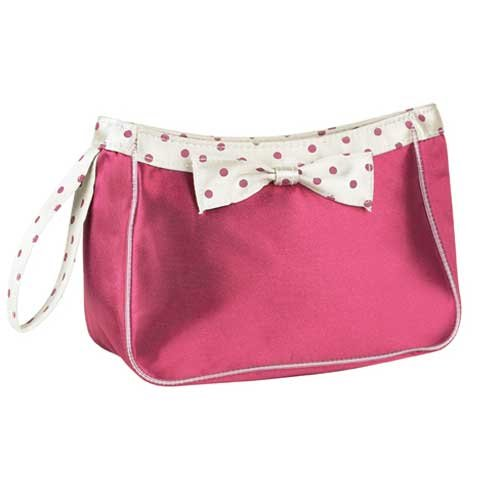 Red Satin Polka Dot Purse