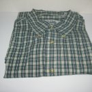 Jos A. Bank PLAID GREEN BLUE-WHITE  100% COTTON Short Sleeve SHIRT SZ XL