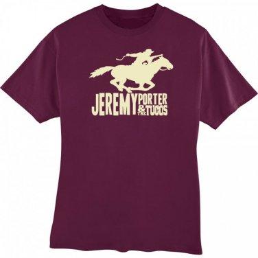 T-Shirt - Maroon w/Horse Logo - Large