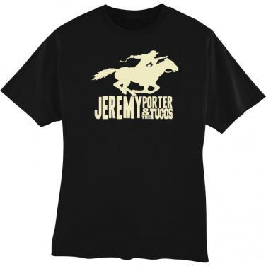T-Shirt - Black w/Horse Logo - Large