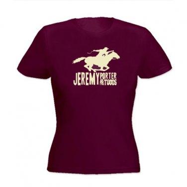 Girle-Tee - Maroon w/Horse Logo - Large