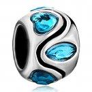 Pugster® Blue Crystal March Birthstone Euro Charm