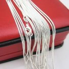 "Set of Three (3) Silver Plated Snake Chain Necklaces * Your Choice of Lengths * 16"" - 28"""
