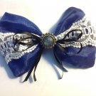 Blue/White BowTie Hair Clip