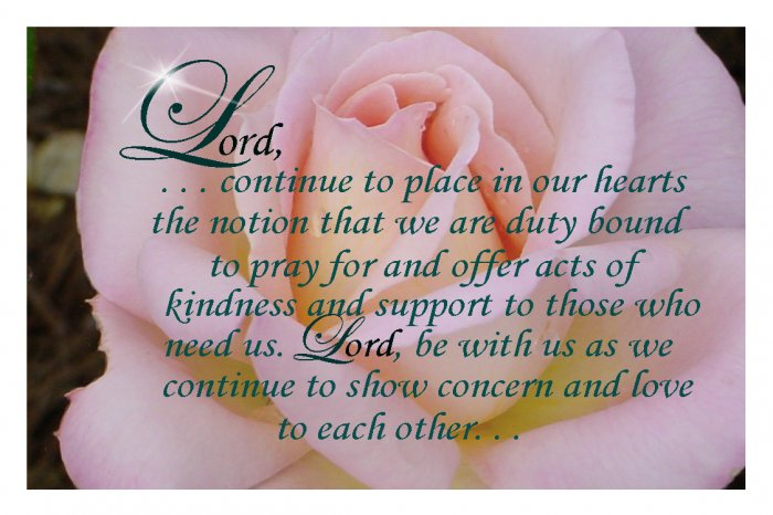 Acts of Kindness Prayer Card - Gracie