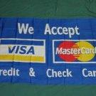 We Accept Credit & Check Cards Flag 3x5 feet banner sign Mastercard Visa new
