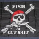 Fish or Cut Bait Flag 3x5 feet Pirate banner skull & cross bones new jolly roger